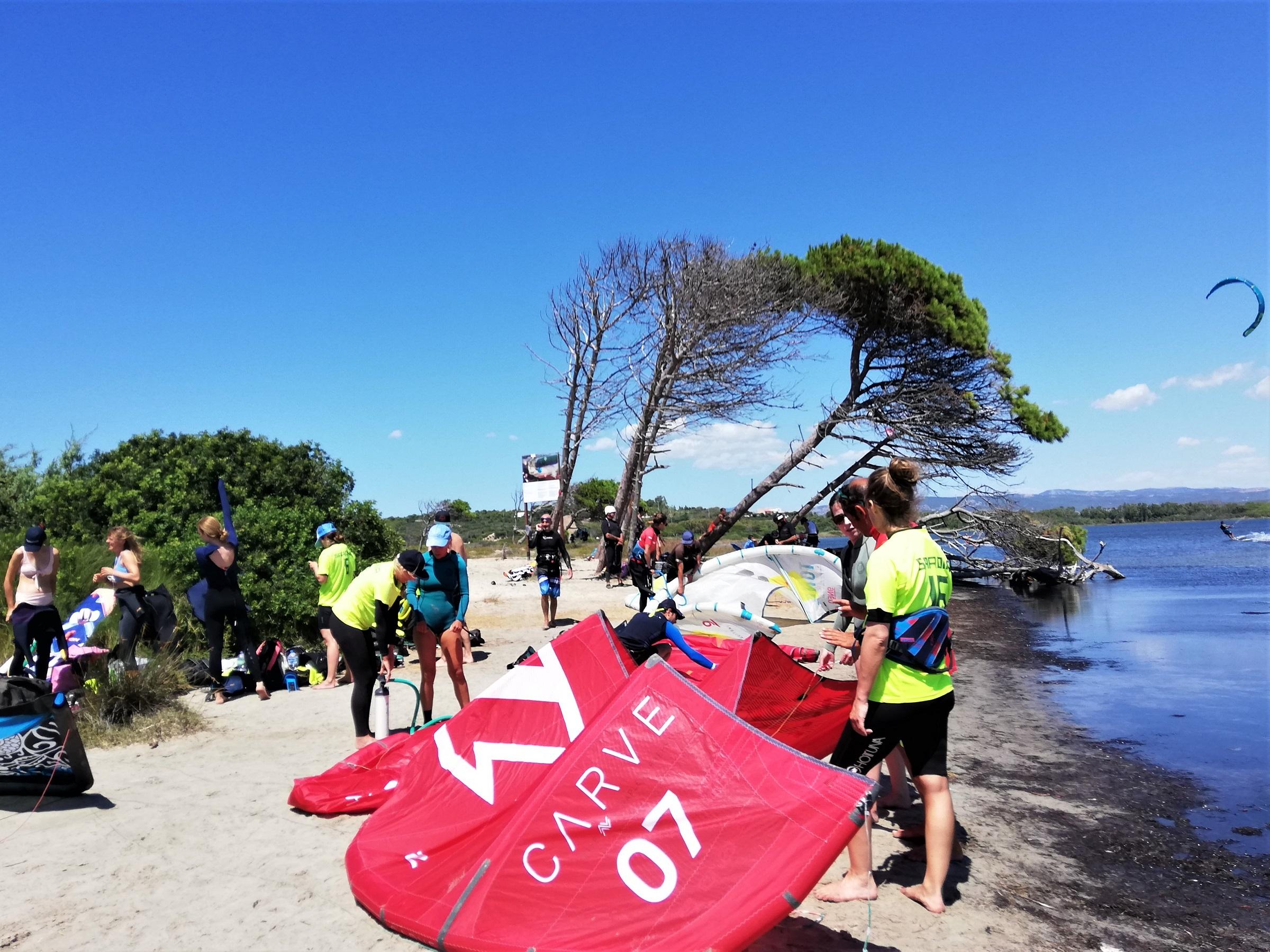 Kitesurf camp Sardinia in Punta Trettu