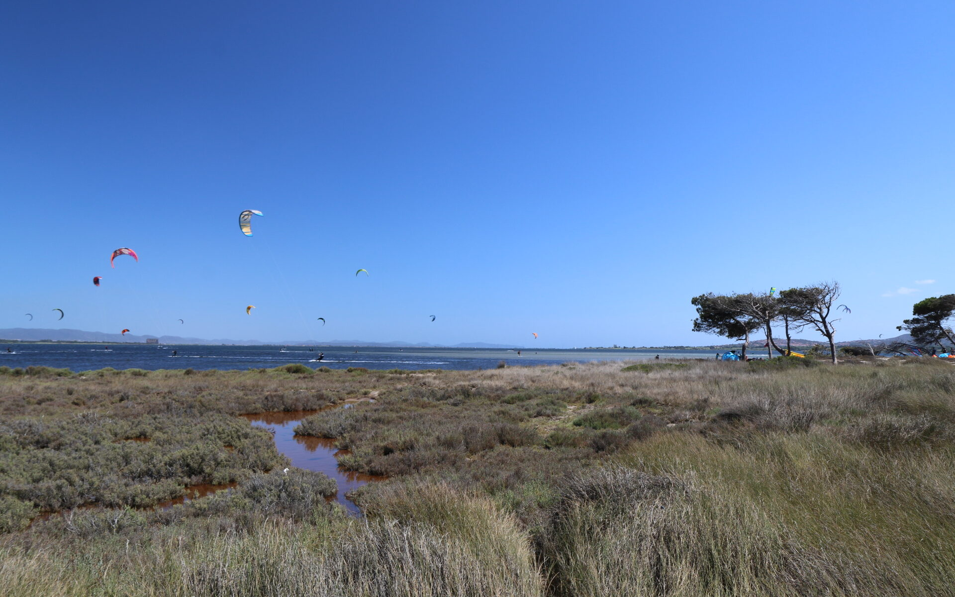 foto del famoso kite spot di Punta Trettu in sardegna