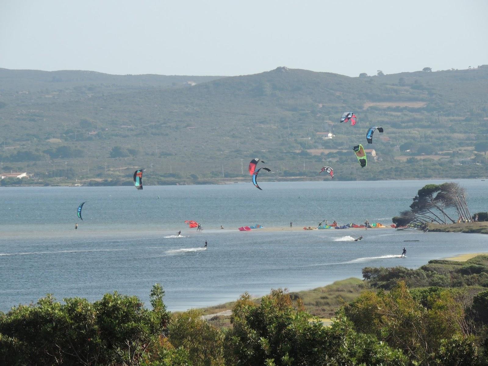 Foto sul kite spot di Punta Trettu iN sardegna