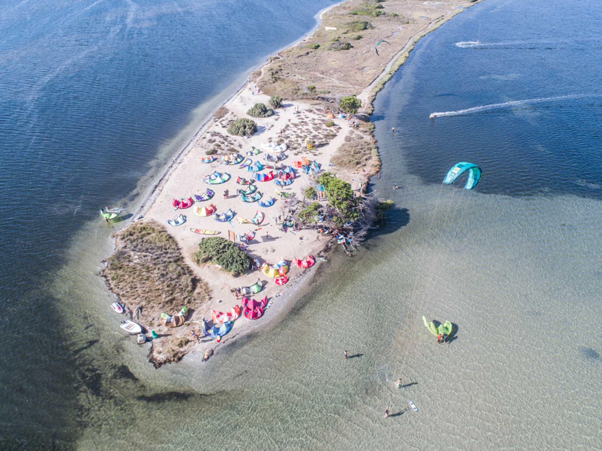 kite Spot di Punta Trettu in Sardegna