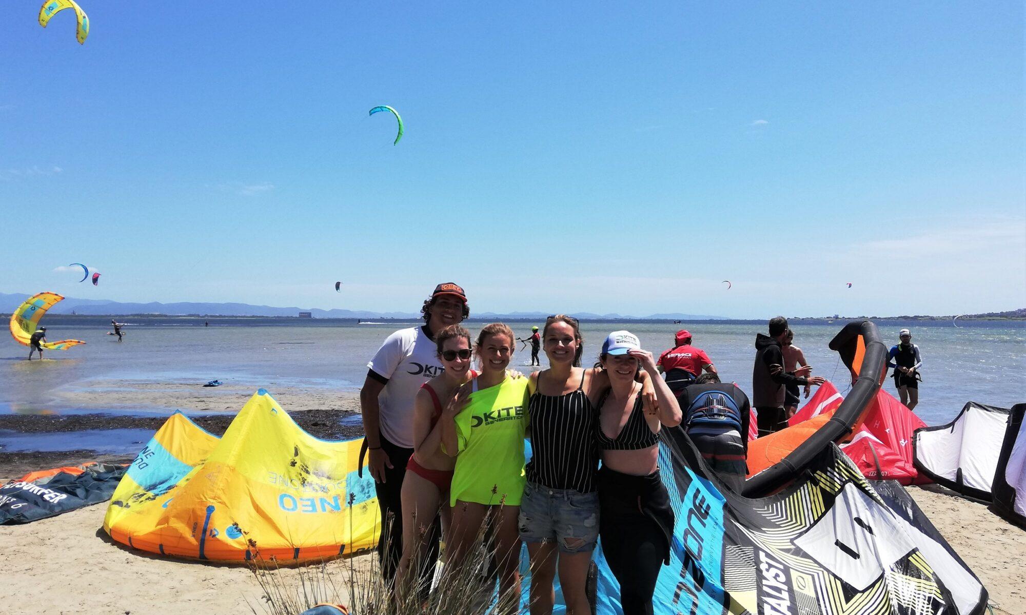 Impara il kitesurf con un Kite Camp a Punta Trettu in Sardegna