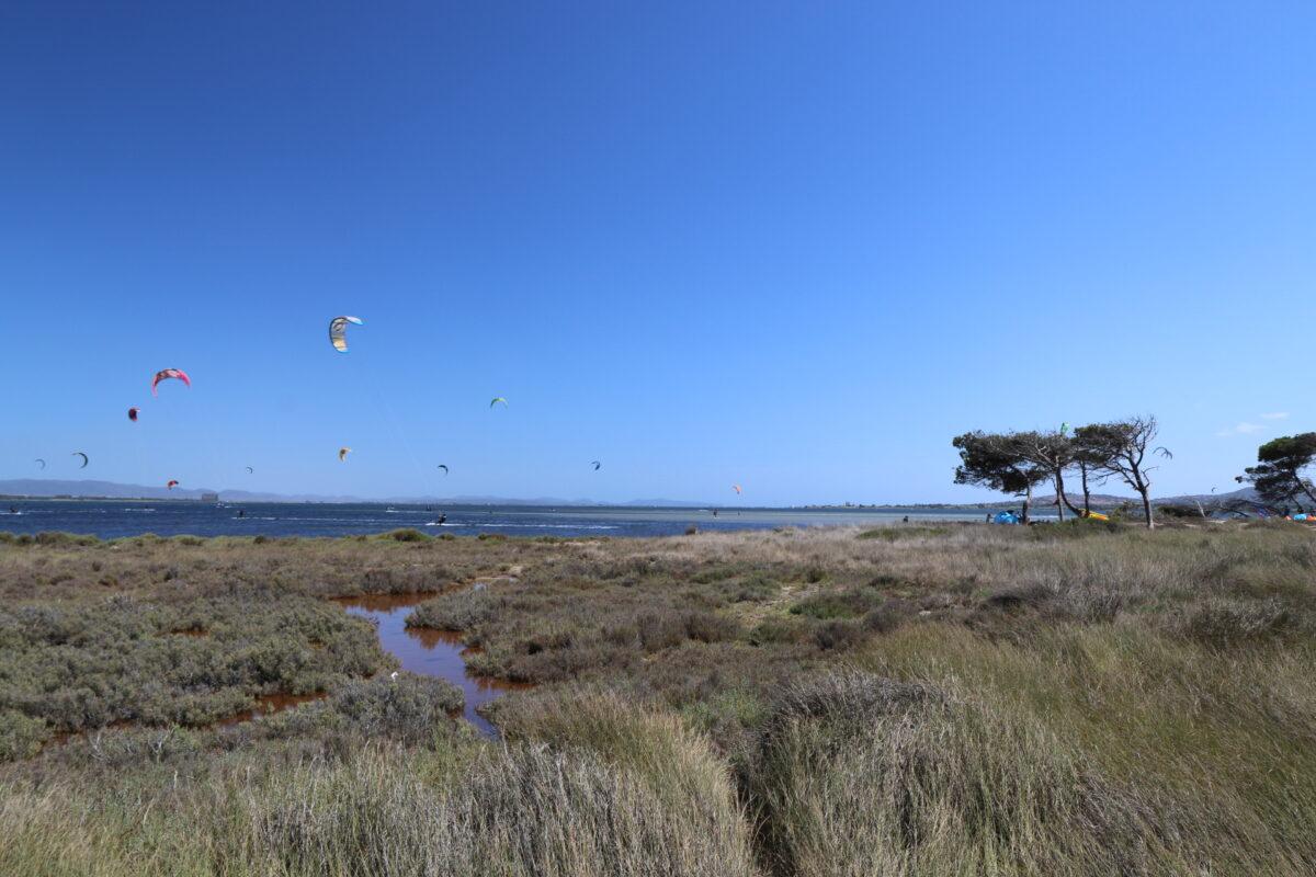 Punta Trettu Kite Center Sardinia Maps: kite zones in Punta Trettu where to kitesurf