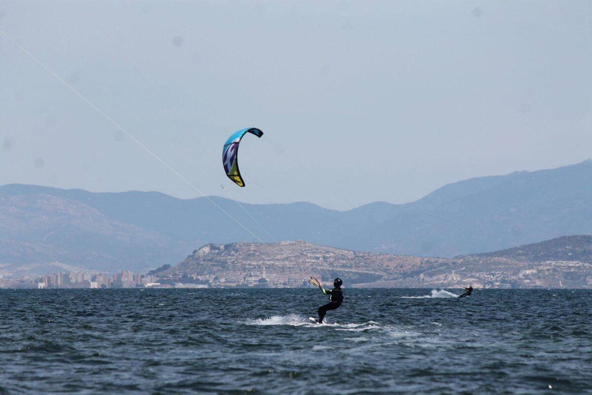 Kitesurfing in Sardinia Punta Trettu Porto Botte Cagliari Sardinia Kite Trip