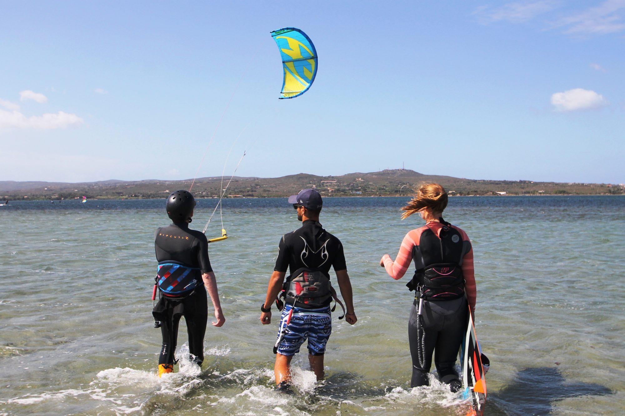 Sardinia Kitesurfing Flat Water Kite Beach of Punta Trettu