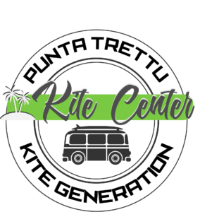 The Logo of Punta Trettu Kite Center, the kitesurf center in Punta Trettu