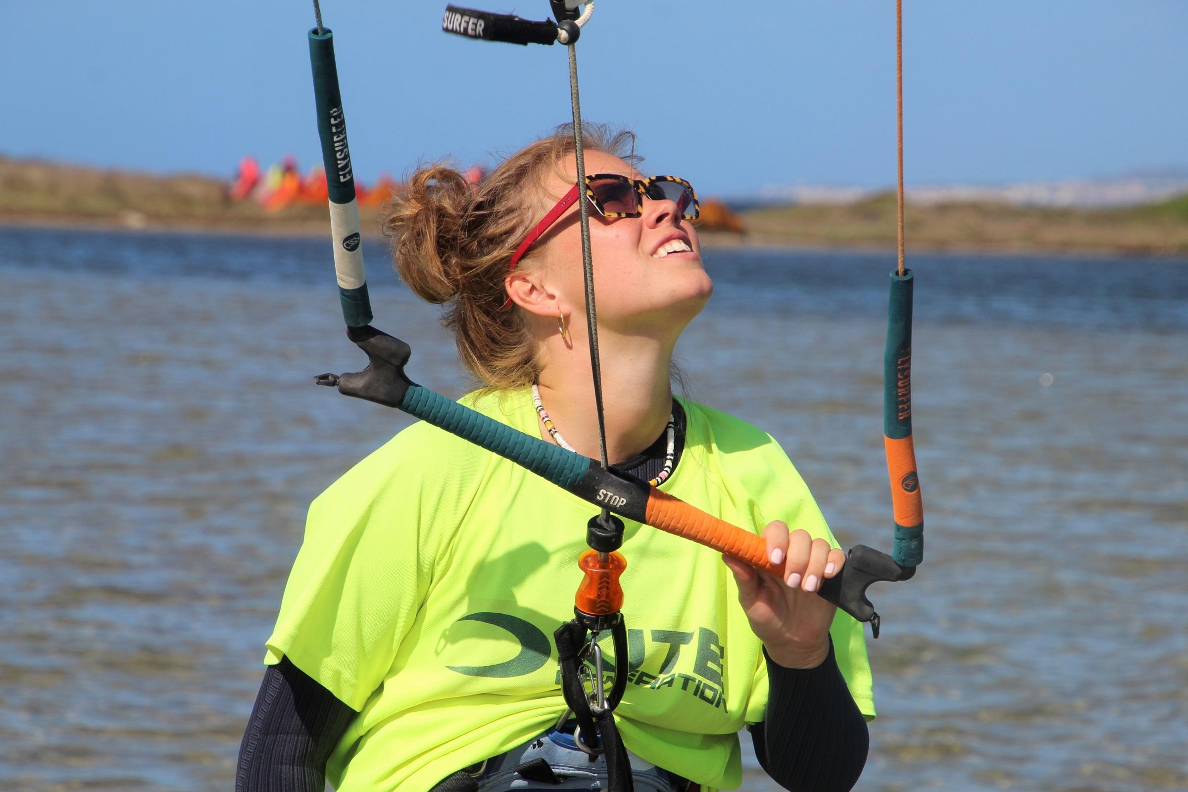 Larn Kitesurfing in PUnta Trettu Sardinia