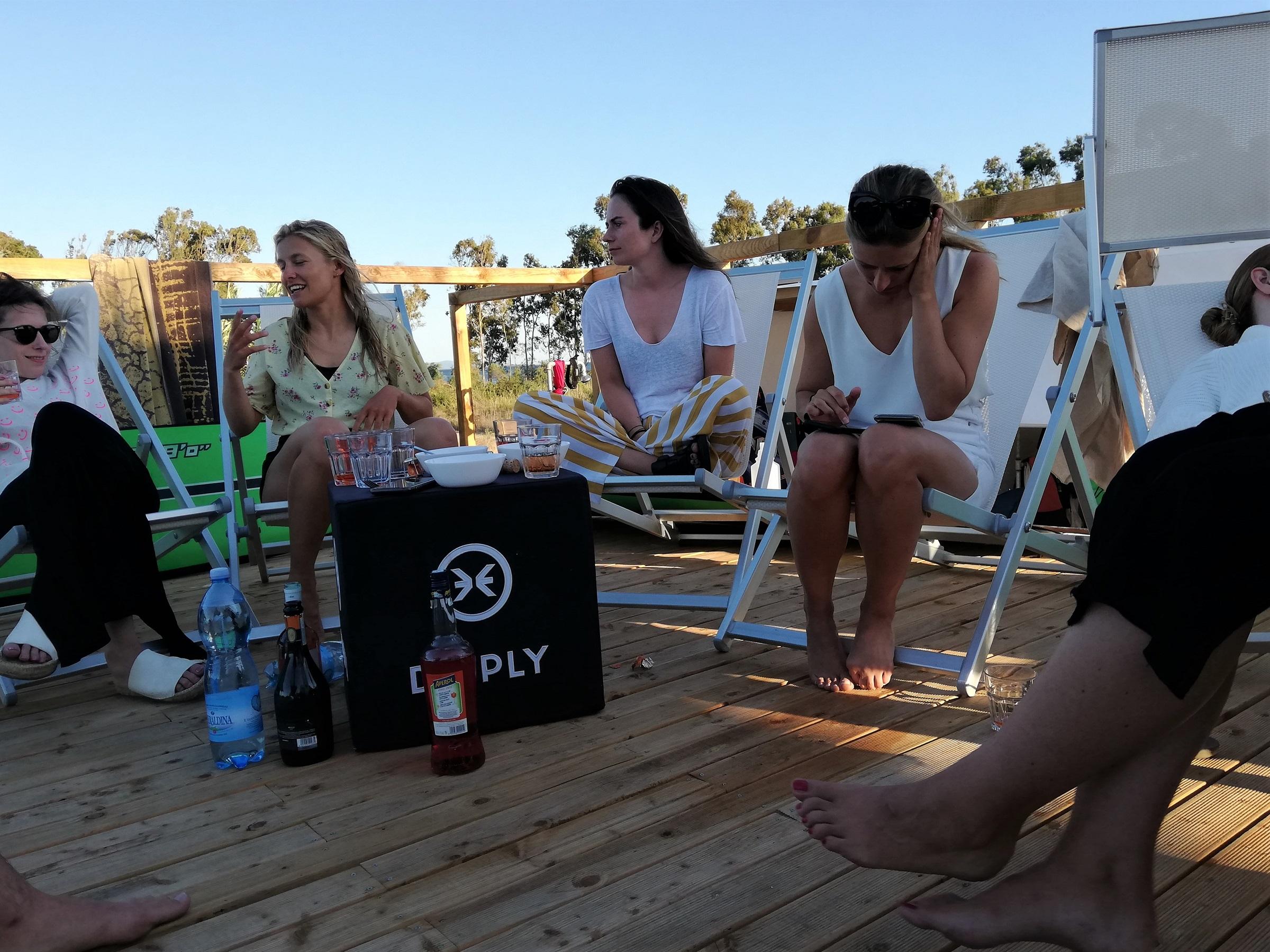 Social Life at the Punta Trettu Kite Center Sardinia